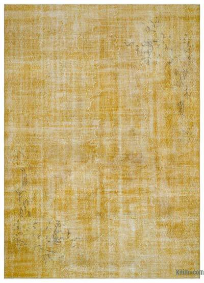 """Over-dyed Turkish Vintage Rug - 7'1"""" x 10' (85 in. x 120 in.)"""