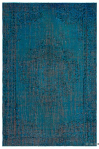 """Over-dyed Turkish Vintage Rug - 5' 10"""" x 8' 10"""" (70 in. x 106 in.)"""