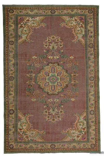 """Turkish Vintage Area Rug - 6'3"""" x 9'8"""" (75 in. x 116 in.)"""