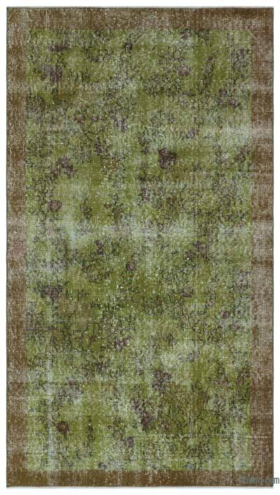 """Over-dyed Turkish Vintage Rug - 3'8"""" x 6'6"""" (44 in. x 78 in.)"""