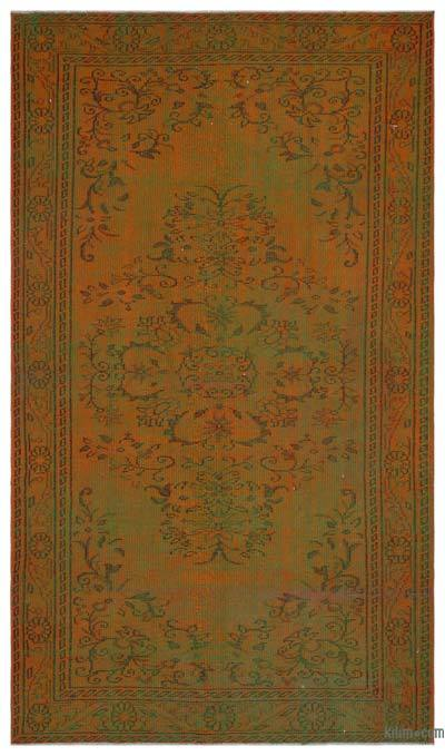 "Over-dyed Turkish Vintage Rug - 5' 4"" x 9' 2"" (64 in. x 110 in.)"