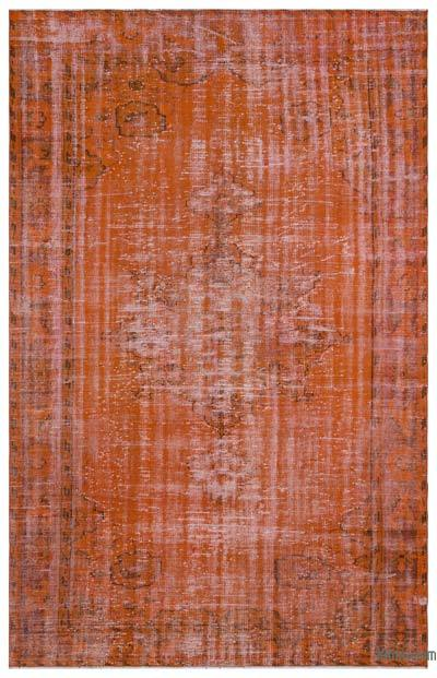 "Over-dyed Turkish Vintage Rug - 6'3"" x 9'11"" (75 in. x 119 in.)"