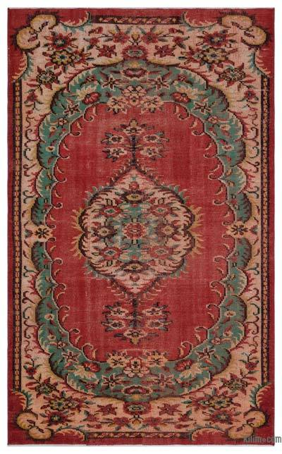 "Turkish Vintage Area Rug - 4'10"" x 8' (58 in. x 96 in.)"