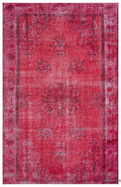 """Over-dyed Turkish Vintage Rug - 6'1"""" x 9'5"""" (73 in. x 113 in.)"""