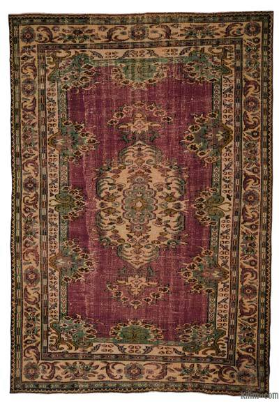 """Turkish Vintage Area Rug - 6' x 8'10"""" (72 in. x 106 in.)"""