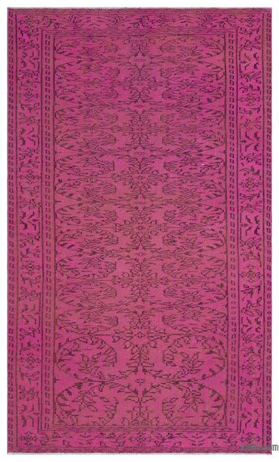 """Over-dyed Turkish Vintage Rug - 4'11"""" x 8'4"""" (59 in. x 100 in.)"""