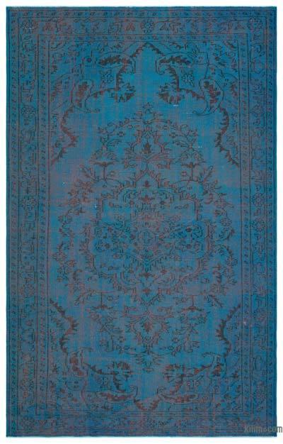 Boyalı El Dokuma Vintage Halı - 179 cm x 280 cm
