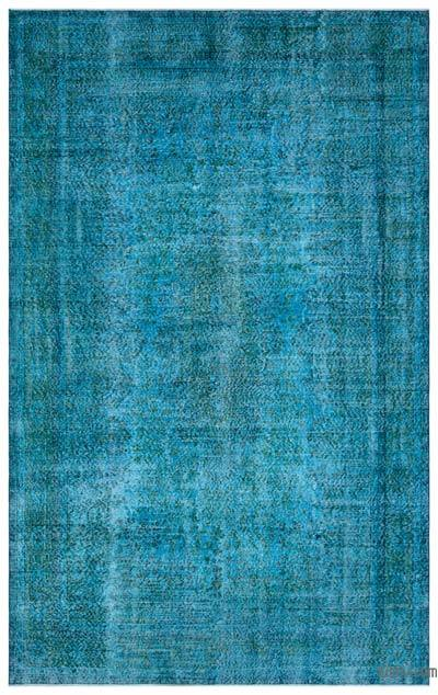 "Over-dyed Turkish Vintage Rug - 6' 8"" x 10' 6"" (80 in. x 126 in.)"