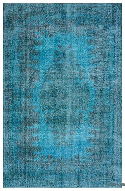 """Over-dyed Turkish Vintage Rug - 5' 7"""" x 8' 7"""" (67 in. x 103 in.)"""