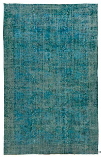 """Over-dyed Turkish Vintage Rug - 5' 4"""" x 8' 9"""" (64 in. x 105 in.)"""