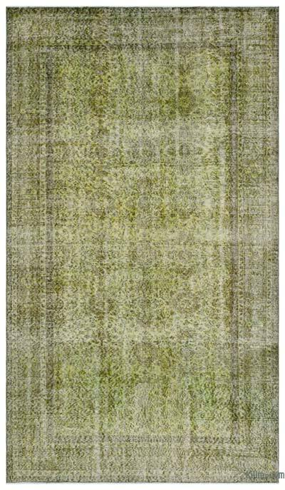 """Over-dyed Turkish Vintage Rug - 5'11"""" x 10'5"""" (71 in. x 125 in.)"""