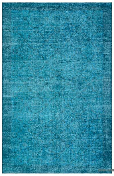 "Over-dyed Turkish Vintage Rug - 6' 6"" x 10' 3"" (78 in. x 123 in.)"