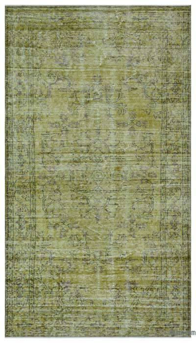 Boyalı El Dokuma Vintage Halı - 156 cm x 270 cm