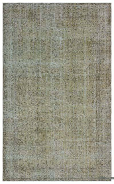 """Over-dyed Turkish Vintage Rug - 5' 7"""" x 9' 2"""" (67 in. x 110 in.)"""