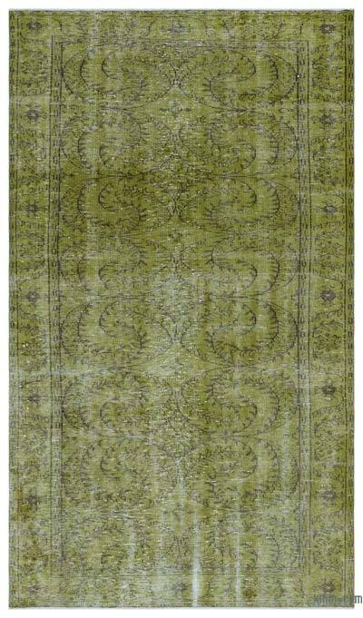 "Over-dyed Turkish Vintage Rug - 5' 3"" x 9'  (63 in. x 108 in.)"