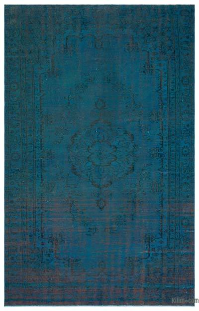 """Over-dyed Turkish Vintage Rug - 5'10"""" x 9'3"""" (70 in. x 111 in.)"""