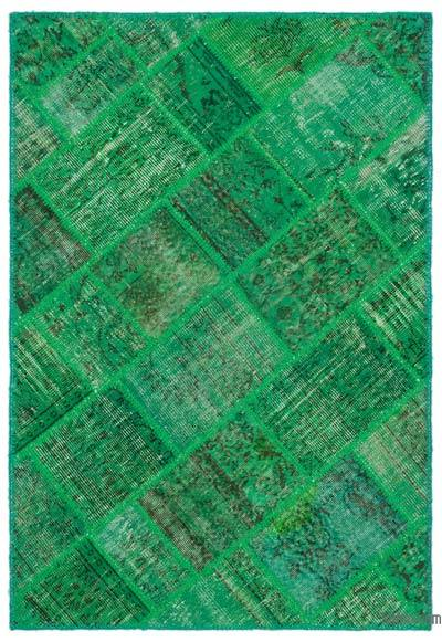 "Patchwork Hand-Knotted Turkish Rug - 3' 11"" x 5' 11"" (47 in. x 71 in.)"