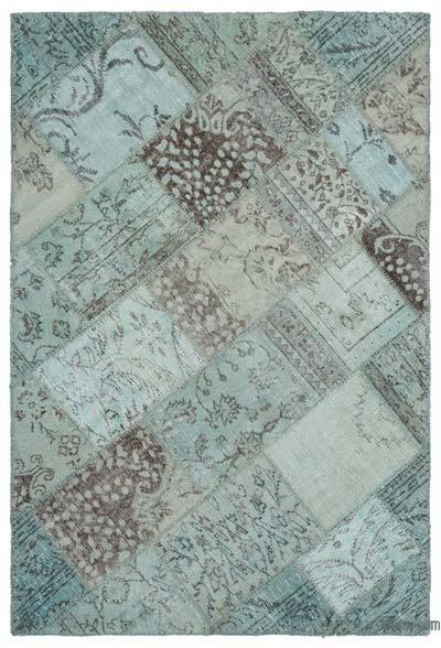 Alfombra De Retazos Turca Sobre-teñida - 120 cm x 180 cm