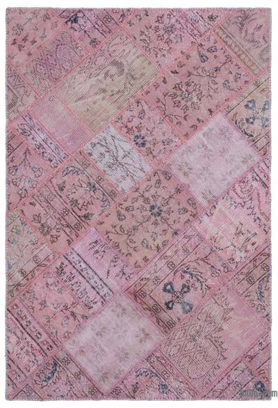 """Patchwork Hand-Knotted Turkish Rug - 3' 11"""" x 5' 11"""" (47 in. x 71 in.)"""