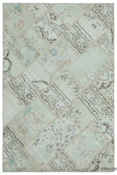 """Over-dyed Turkish Patchwork Rug - 3' 11"""" x 5' 11"""" (47 in. x 71 in.)"""