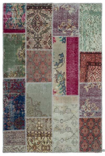"Turkish Patchwork Rug - 3' 11"" x 5' 11"" (47 in. x 71 in.)"