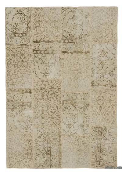 "Over-dyed Turkish Patchwork Rug - 4' 4"" x 6' 3"" (52 in. x 75 in.)"