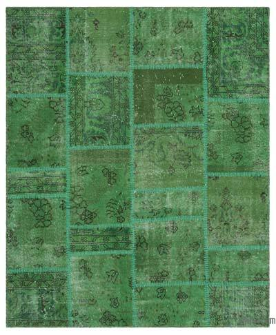 "Patchwork Hand-Knotted Turkish Rug - 4' 9"" x 5' 9"" (57 in. x 69 in.)"