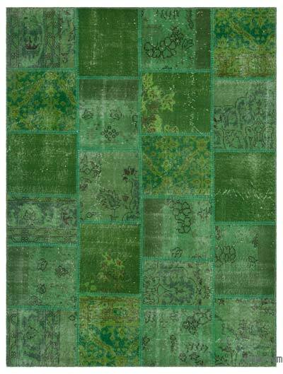 "Over-dyed Turkish Patchwork Rug - 4'11"" x 6'7"" (59 in. x 79 in.)"