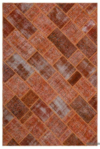 "Over-dyed Turkish Patchwork Rug - 6'3"" x 9'4"" (75 in. x 112 in.)"
