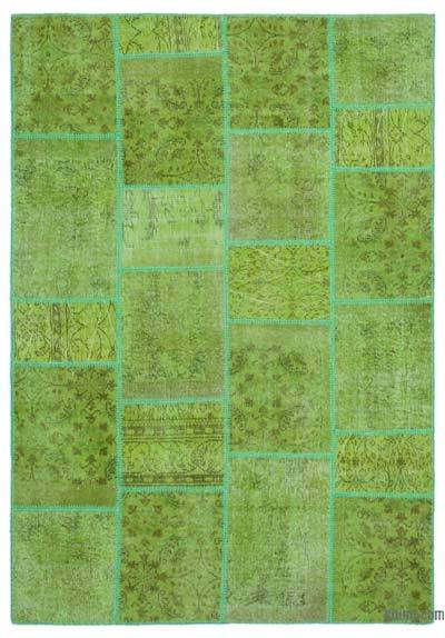 """Over-dyed Turkish Patchwork Rug - 5' 3"""" x 7' 7"""" (63 in. x 91 in.)"""