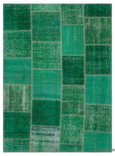 """Over-dyed Turkish Patchwork Rug - 5'3"""" x 7'3"""" (63 in. x 87 in.)"""