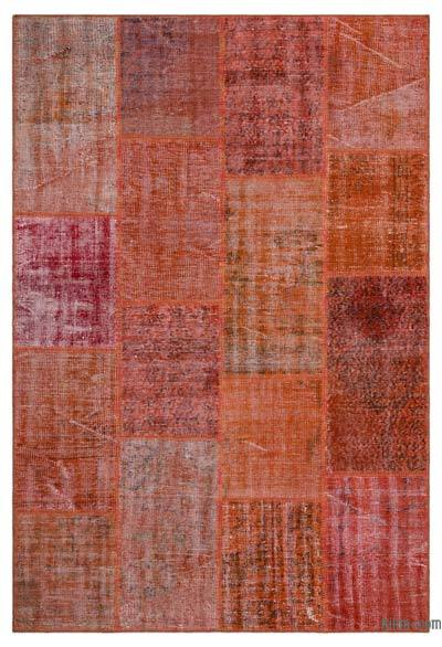 "Over-dyed Turkish Patchwork Rug - 5' 1"" x 7' 7"" (61 in. x 91 in.)"