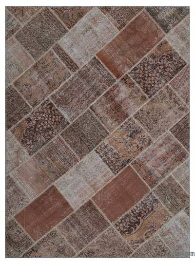 "Over-dyed Turkish Patchwork Rug - 5' 3"" x 7' 3"" (63 in. x 87 in.)"