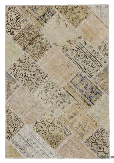 "Over-dyed Turkish Patchwork Rug - 3' 11"" x 5' 11"" (47 in. x 71 in.)"