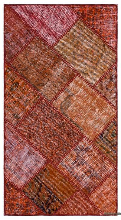 "Over-dyed Turkish Patchwork Rug - 2'8"" x 4'11"" (32 in. x 59 in.)"
