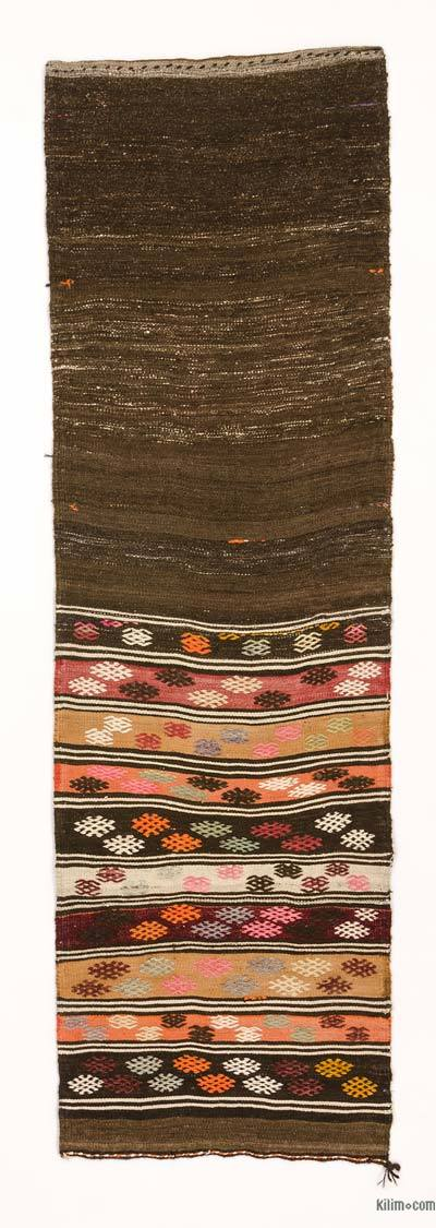 "Vintage Turkish Kilim Runner - 2' 5"" x 7' 9"" (29 in. x 93 in.)"