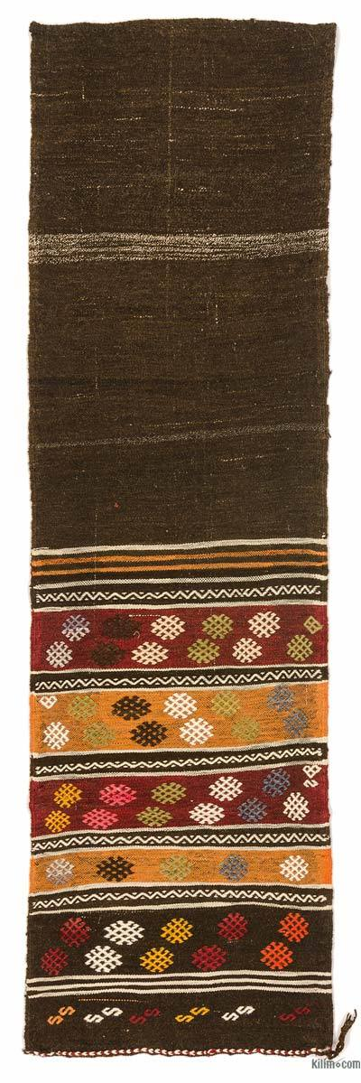 "Vintage Turkish Kilim Runner - 2' 5"" x 7' 11"" (29 in. x 95 in.)"
