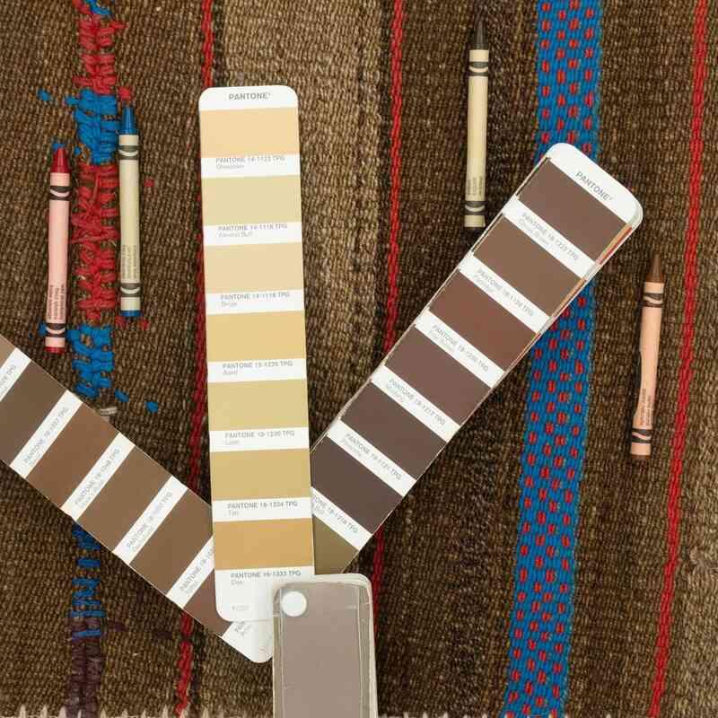 """Patchwork Kilim Rug - 5' 2"""" x 7' 5"""" (62 in. x 89 in.) - K0032777"""