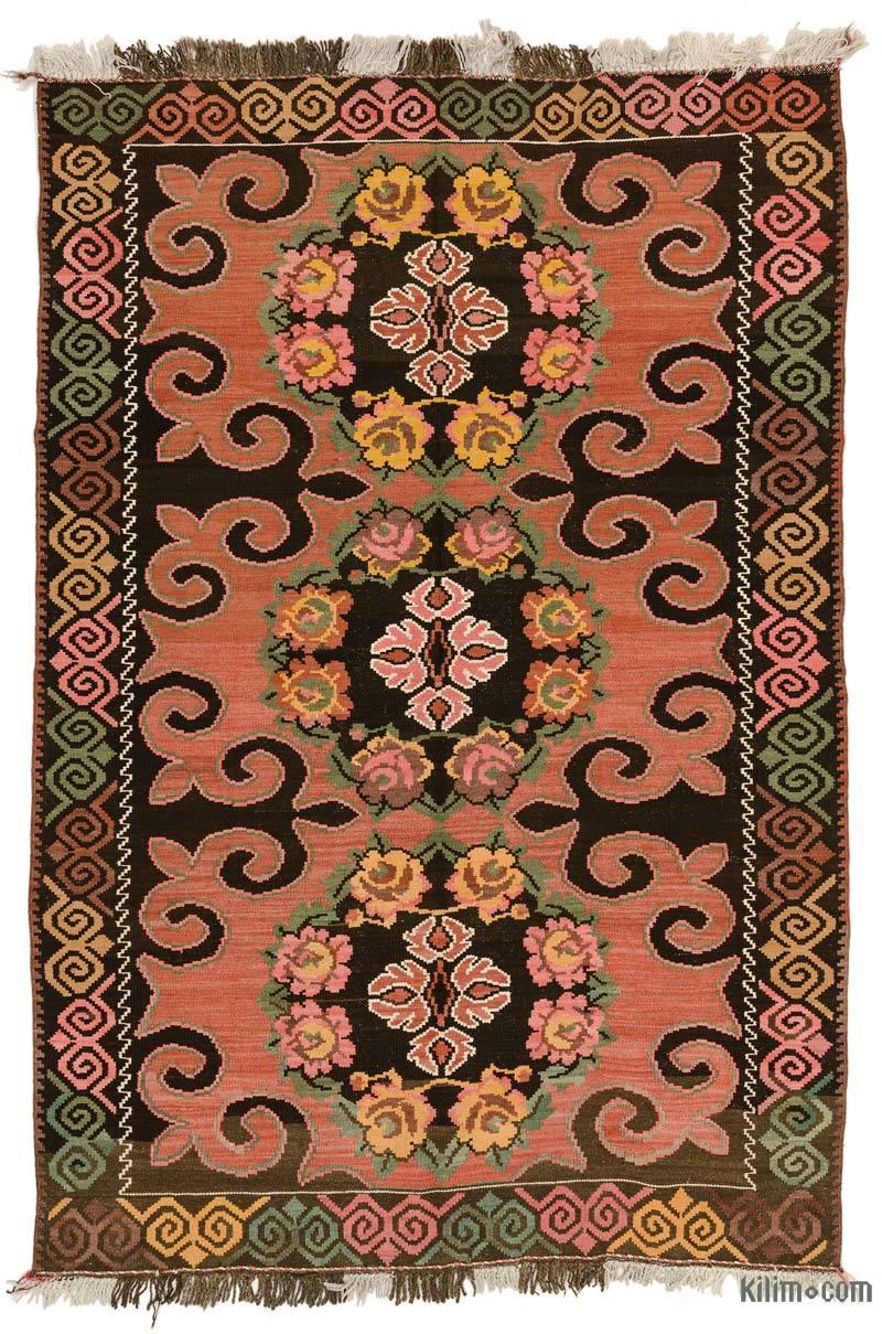 Kırmızı, Kahverengi Karabağ Kilimi - 197 cm x 297 cm - K0033097