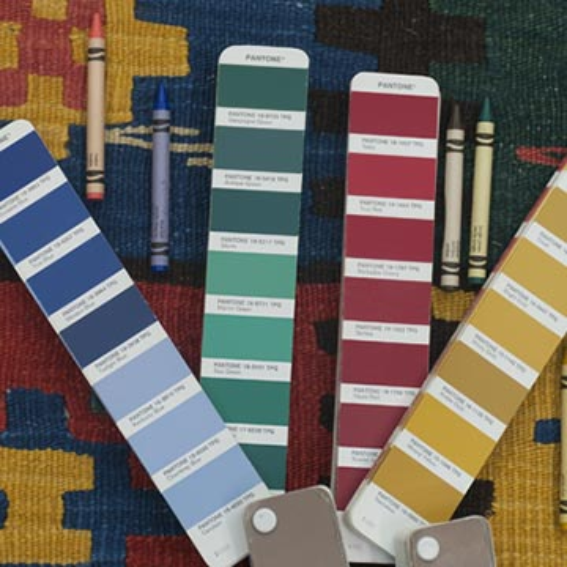 Çok Renkli Yeni Kök Boya El Dokuma Kilim - K0033122