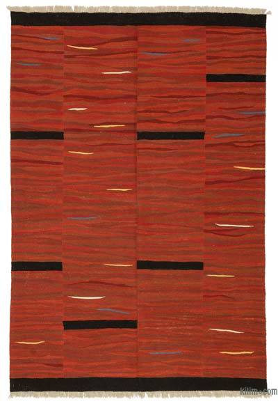 "New Handwoven Turkish Kilim Rug - 6' 1"" x 9'  (73 in. x 108 in.)"