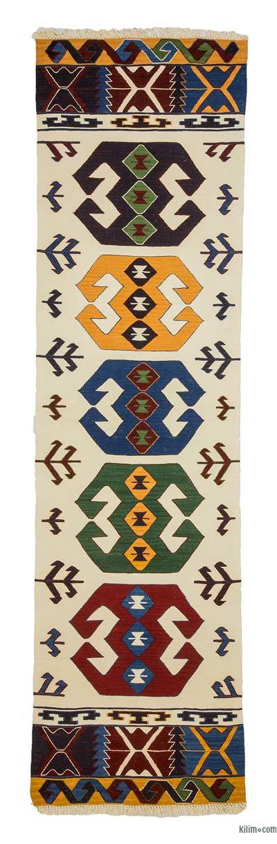 "New Turkish Kilim Runner - 2' 8"" x 10'  (32 in. x 120 in.)"