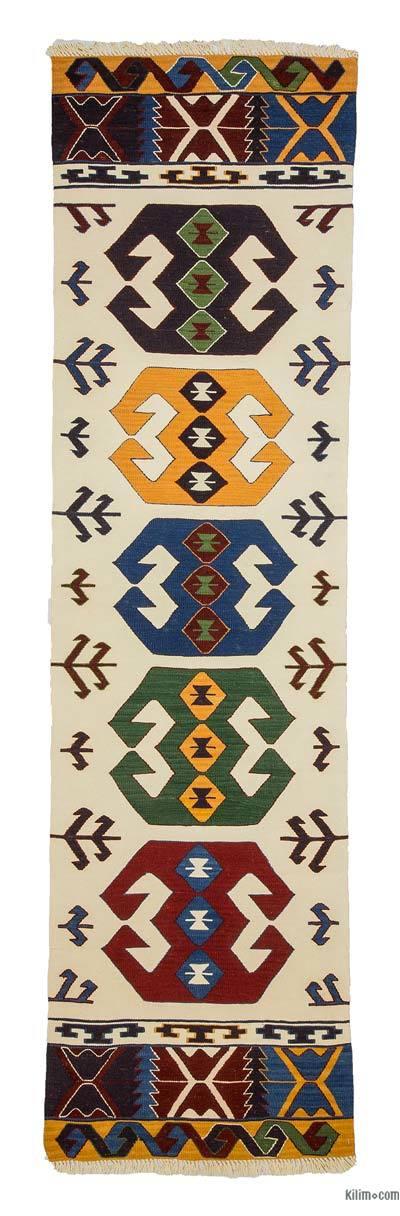Çok Renkli Yeni Kök Boya Yolluk Kilim - 82 cm x 305 cm