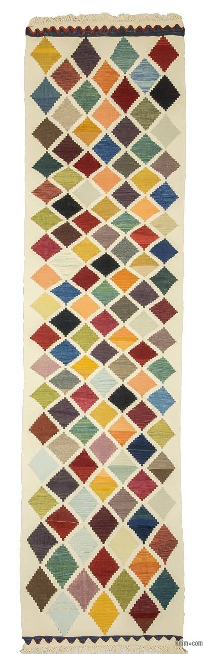 "New Turkish Kilim Runner - 2' 11"" x 11'  (35 in. x 132 in.)"