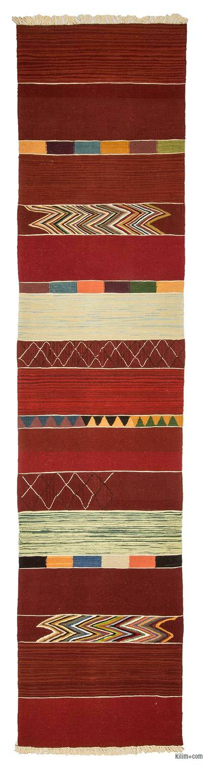 Red New Turkish Kilim Runner
