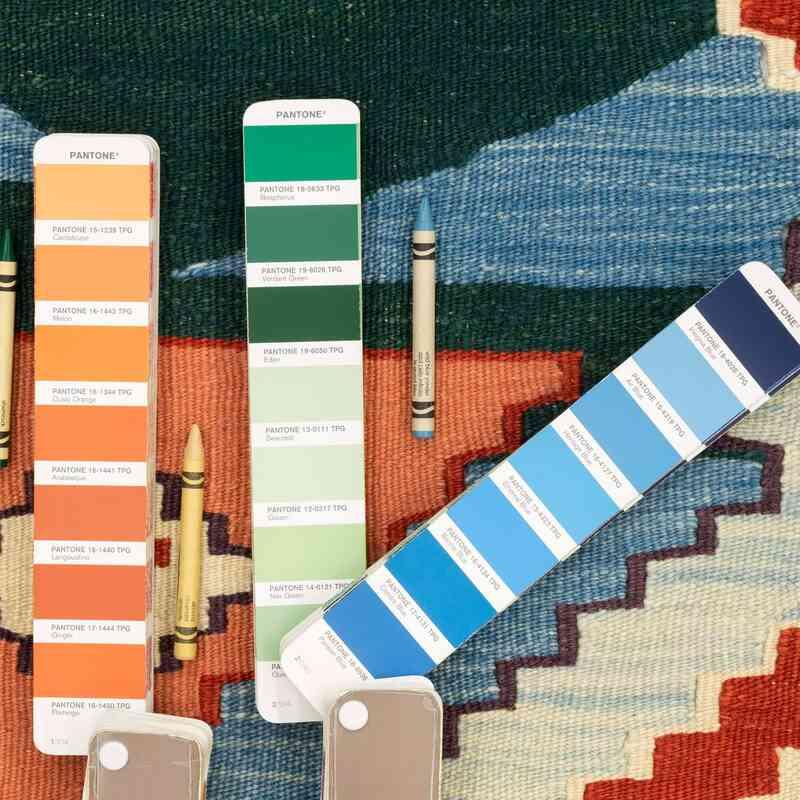Multicolor New Turkish Kilim Runner - K0033133