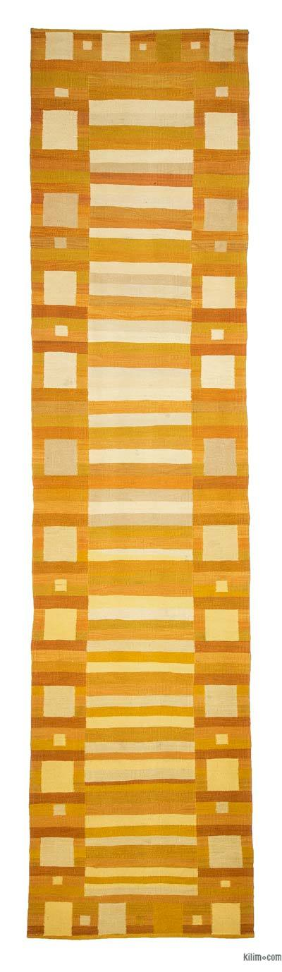 Yellow New Turkish Kilim Runner