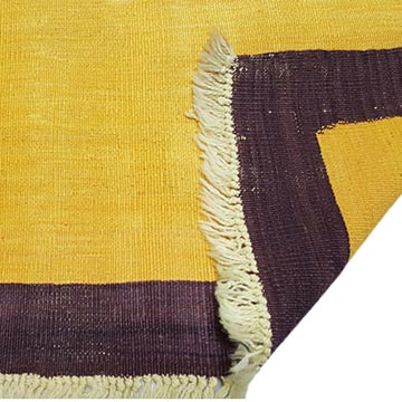 Yellow New Handwoven Turkish Kilim Runner - K0033139