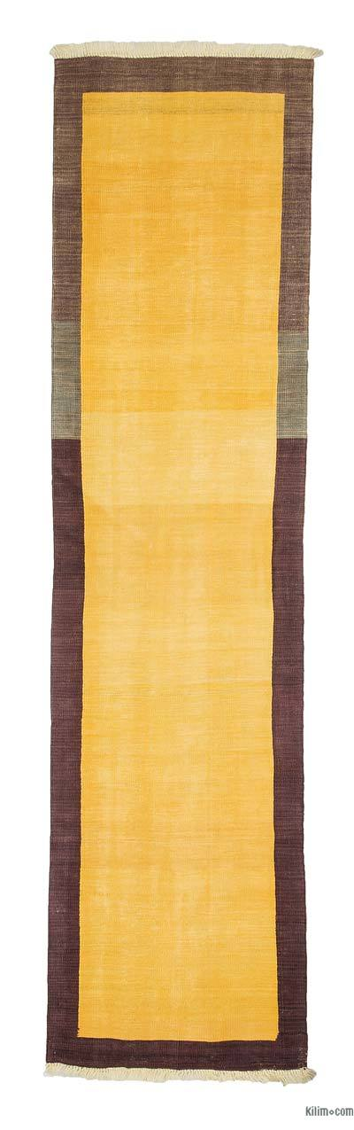 "New Handwoven Turkish Kilim Runner - 2' 5"" x 9' 5"" (29 in. x 113 in.)"