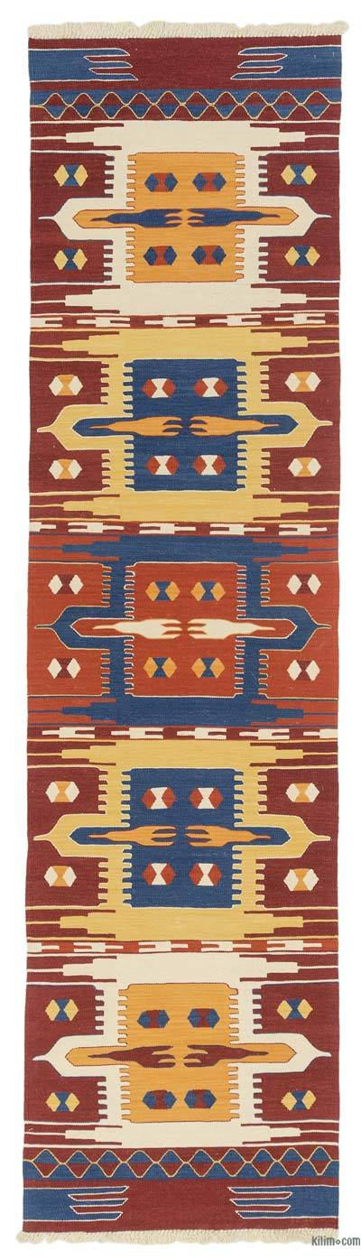 "New Turkish Kilim Runner - 2' 7"" x 10'  (31 in. x 120 in.)"